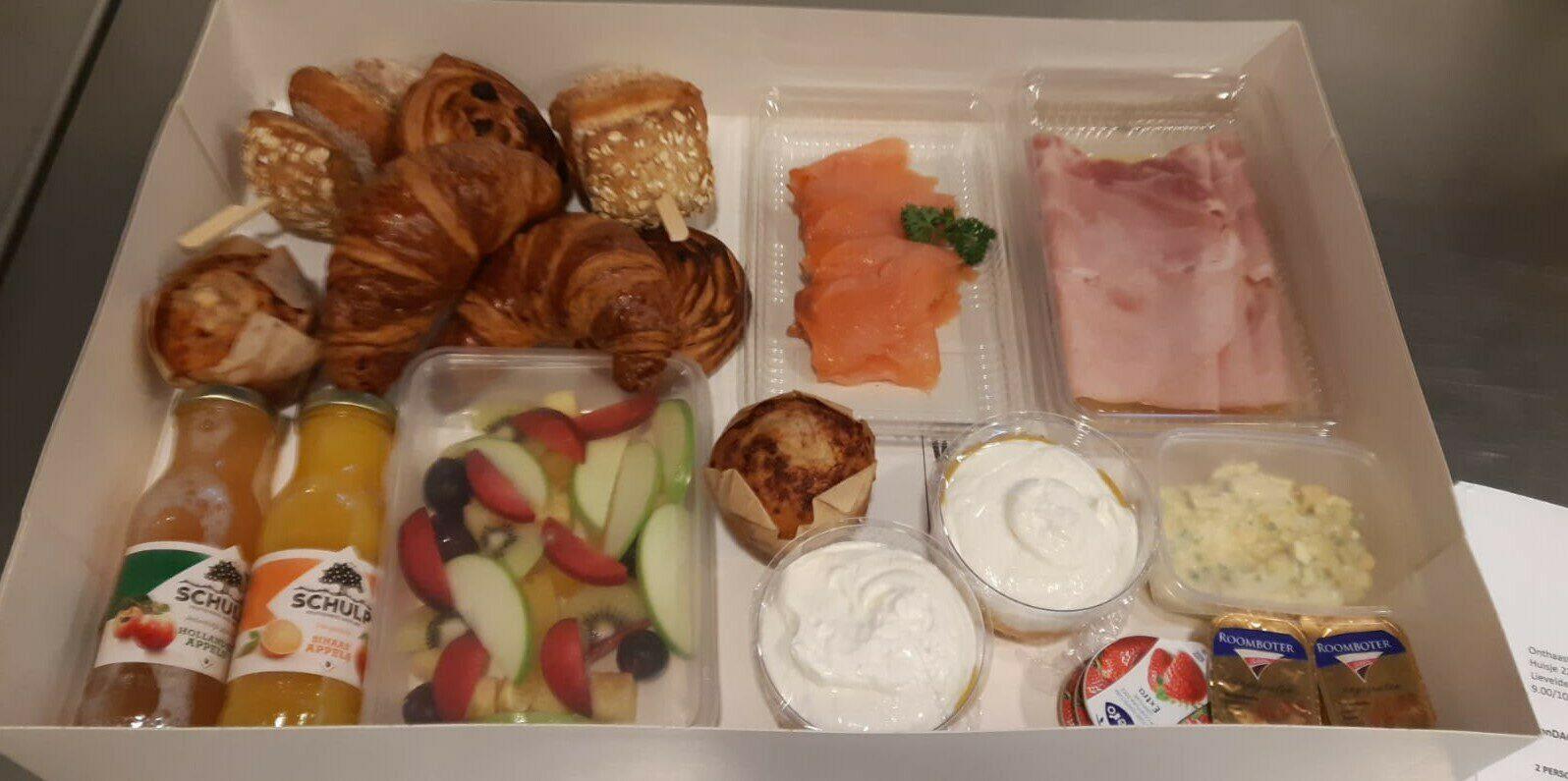 smullen van een heerlijk ontbijtje
