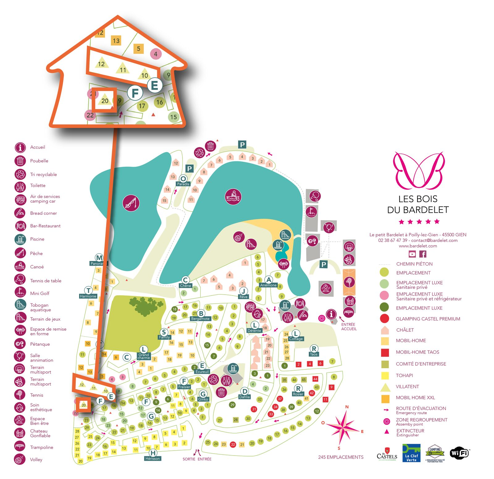 Map of Les Bois de Bardelet