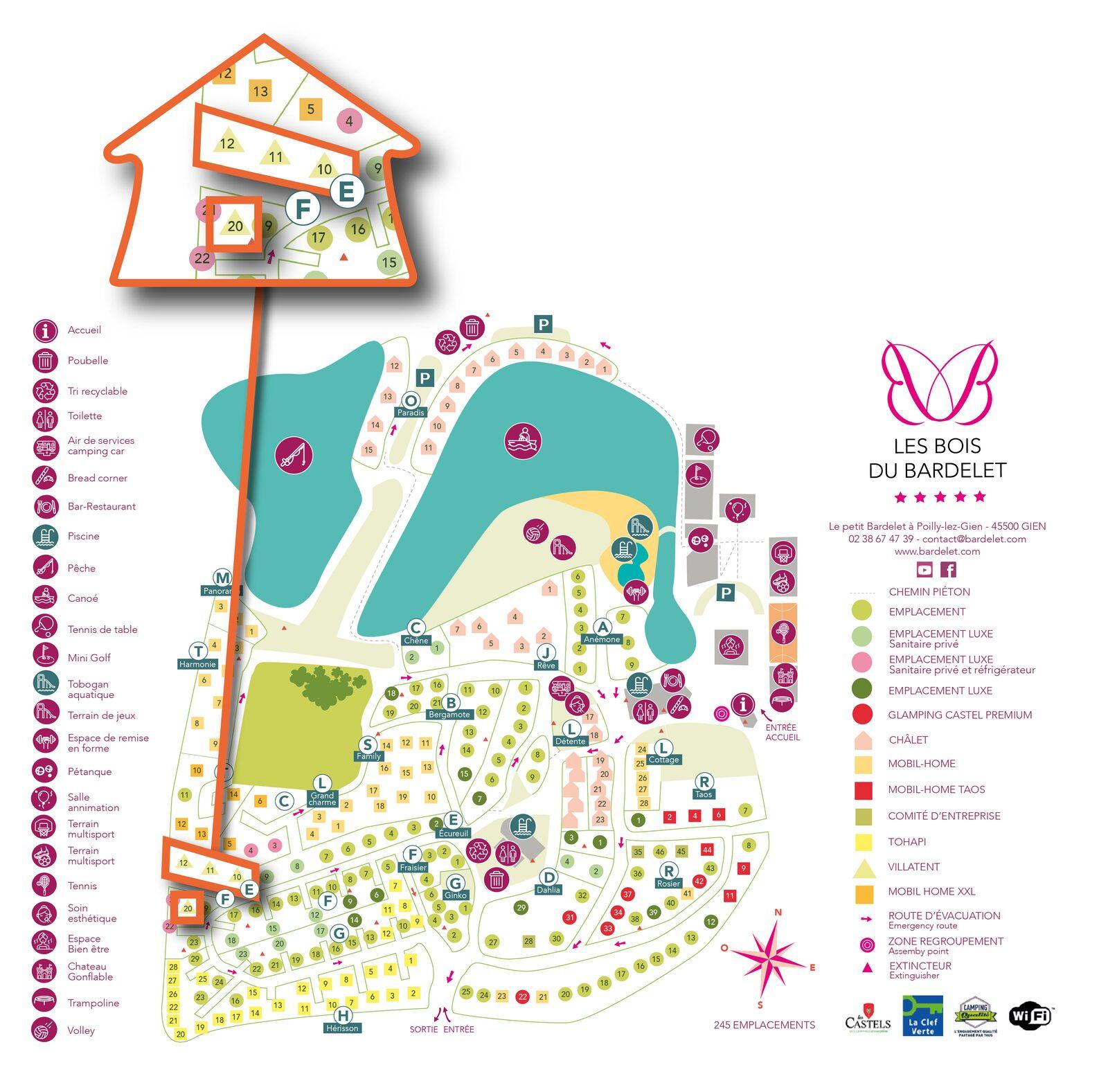 Karte Les Bois du Bardelet