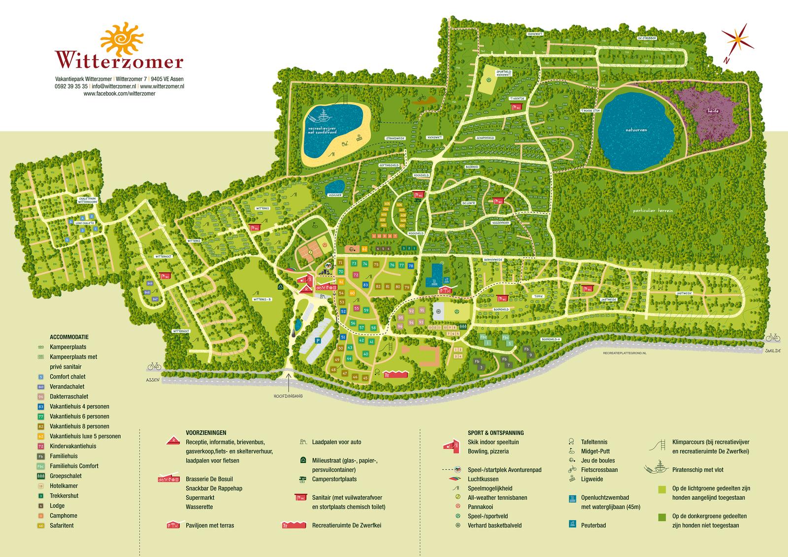 Plattegrond van vakantiepark Witterzomer
