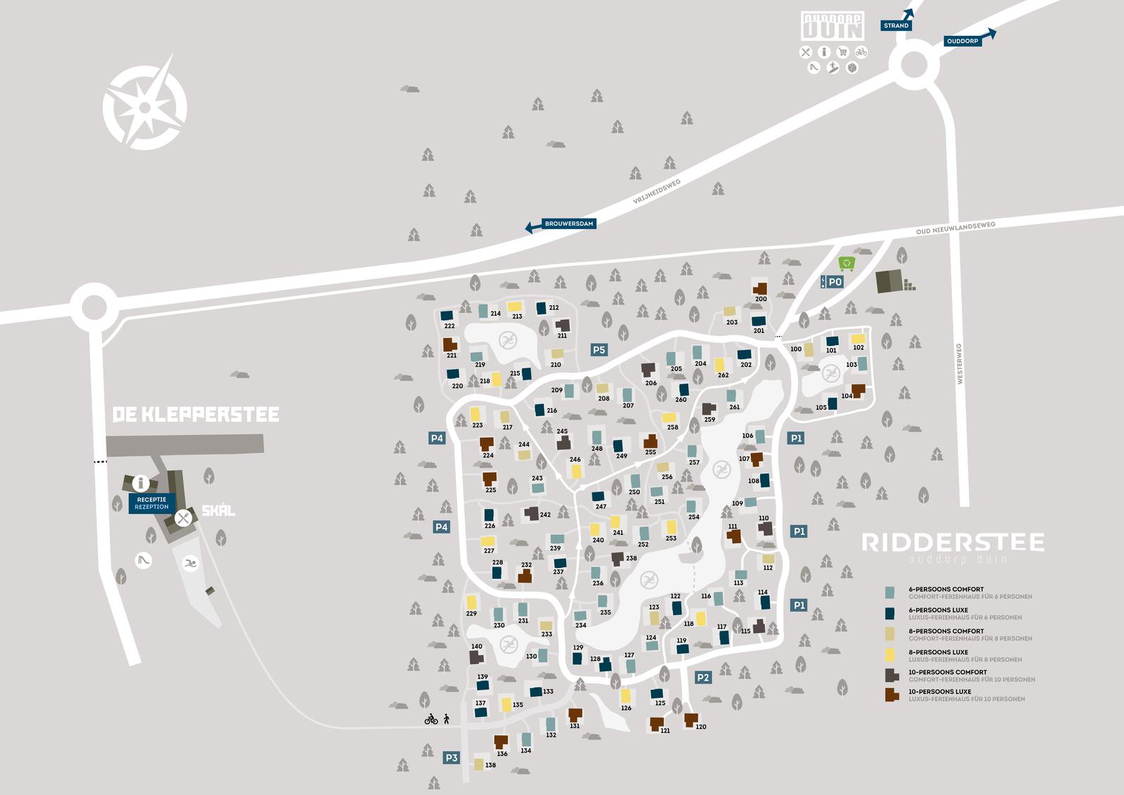 Map Holiday Park De Klepperstee