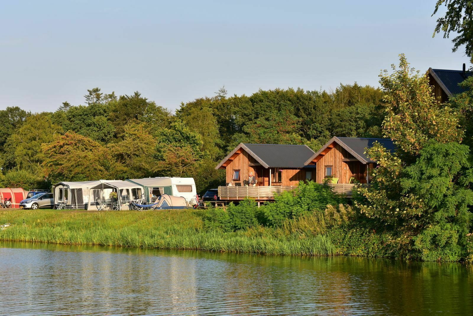 Accommodation on campsite with swimming pool