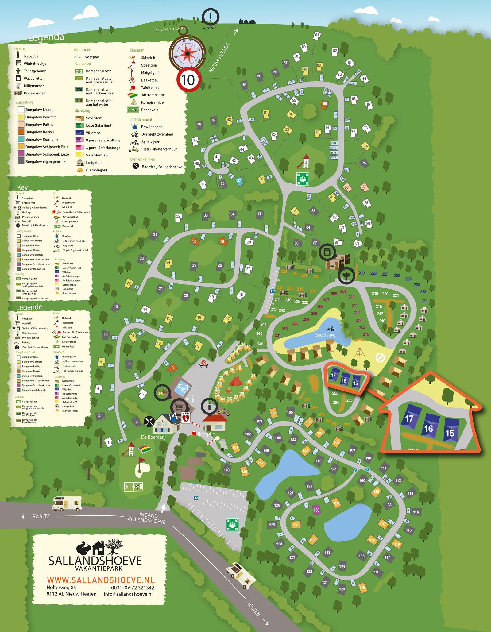 Plattegrond Vakantiepark Sallandshoeve