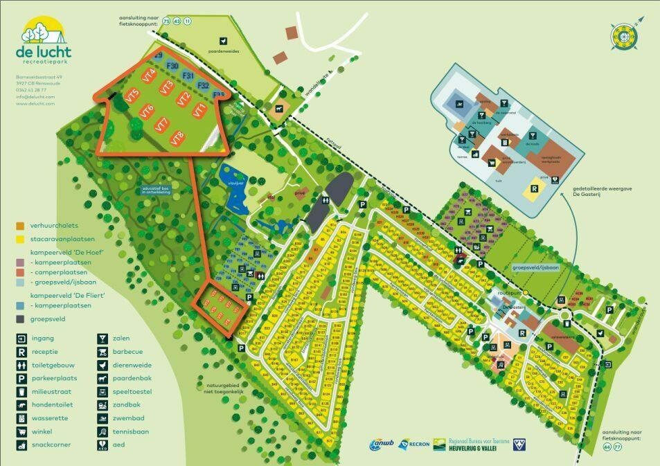 Plattegrond recreatiepark de Lucht