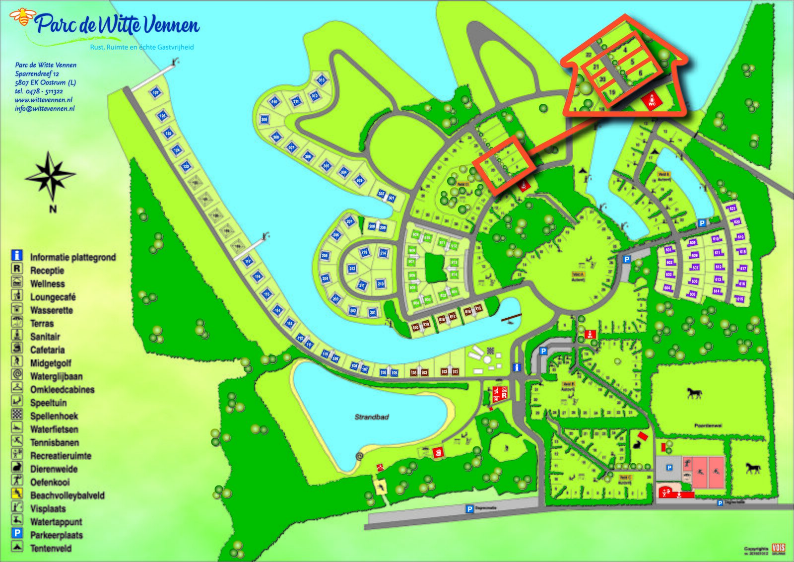 Map of Parc de Witte Vennen