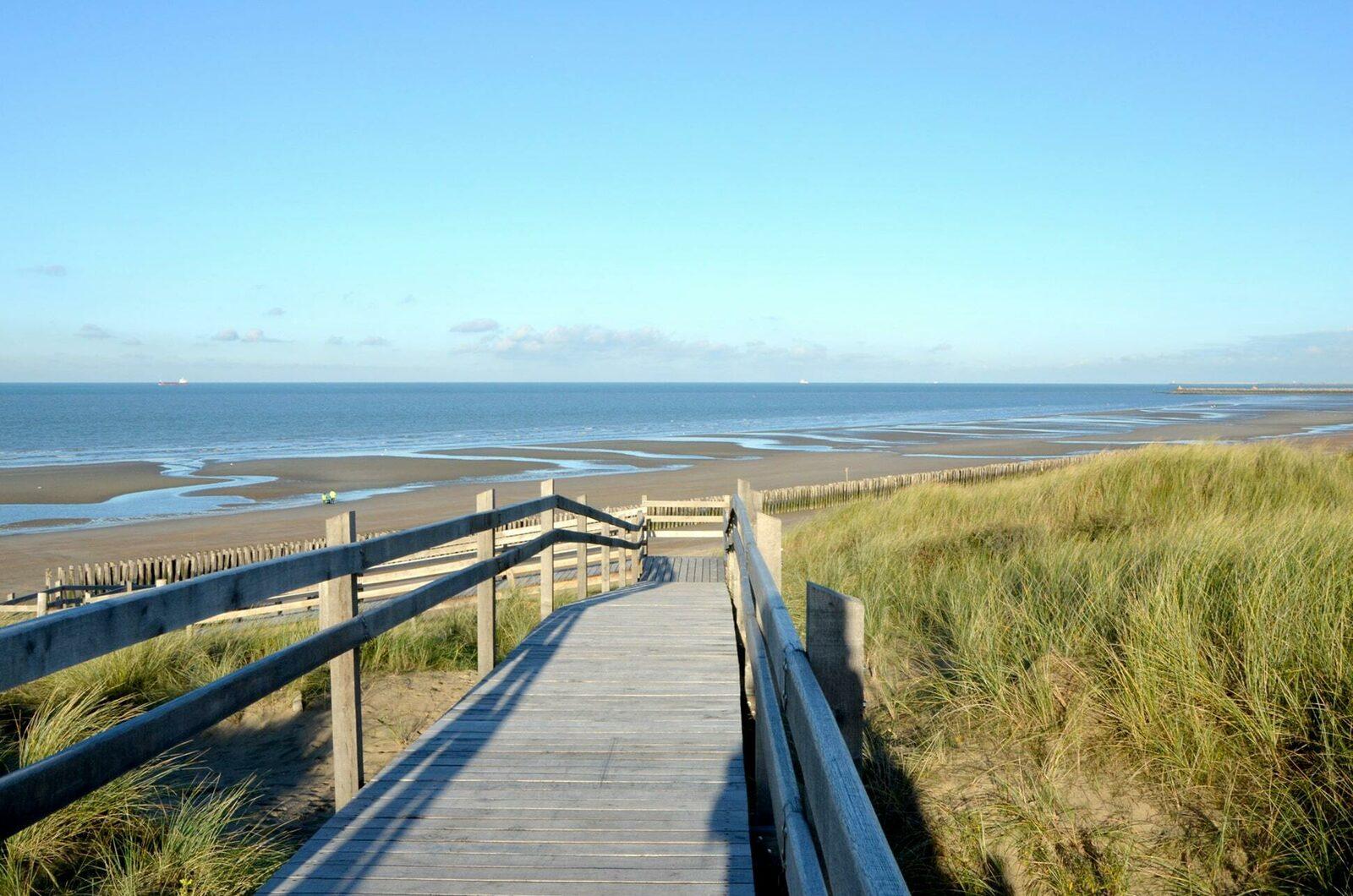 Strand en duinen van Oye-Plage, Noord Frankrijk