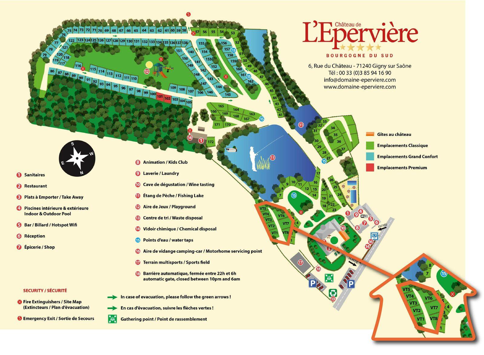 Plattegrond Château de l'Epervière