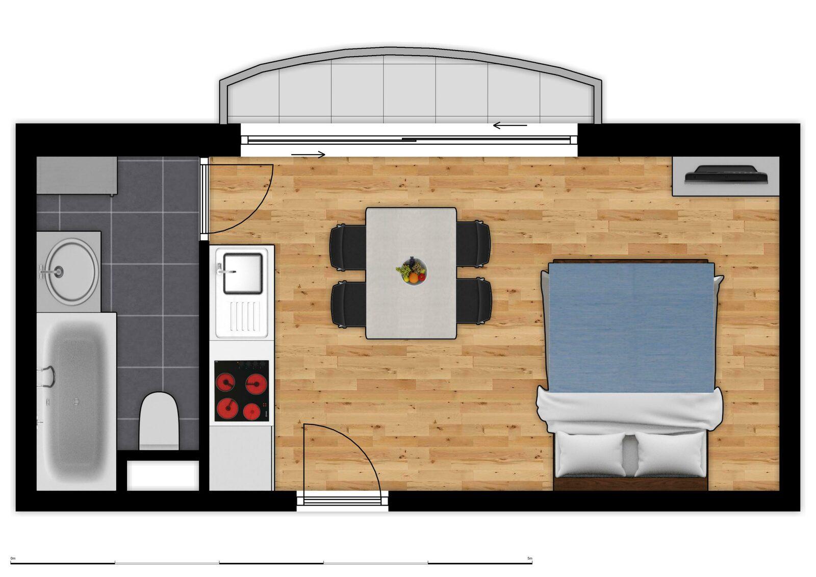 Floor Plan Holiday Suites De Haan - Essential Suite