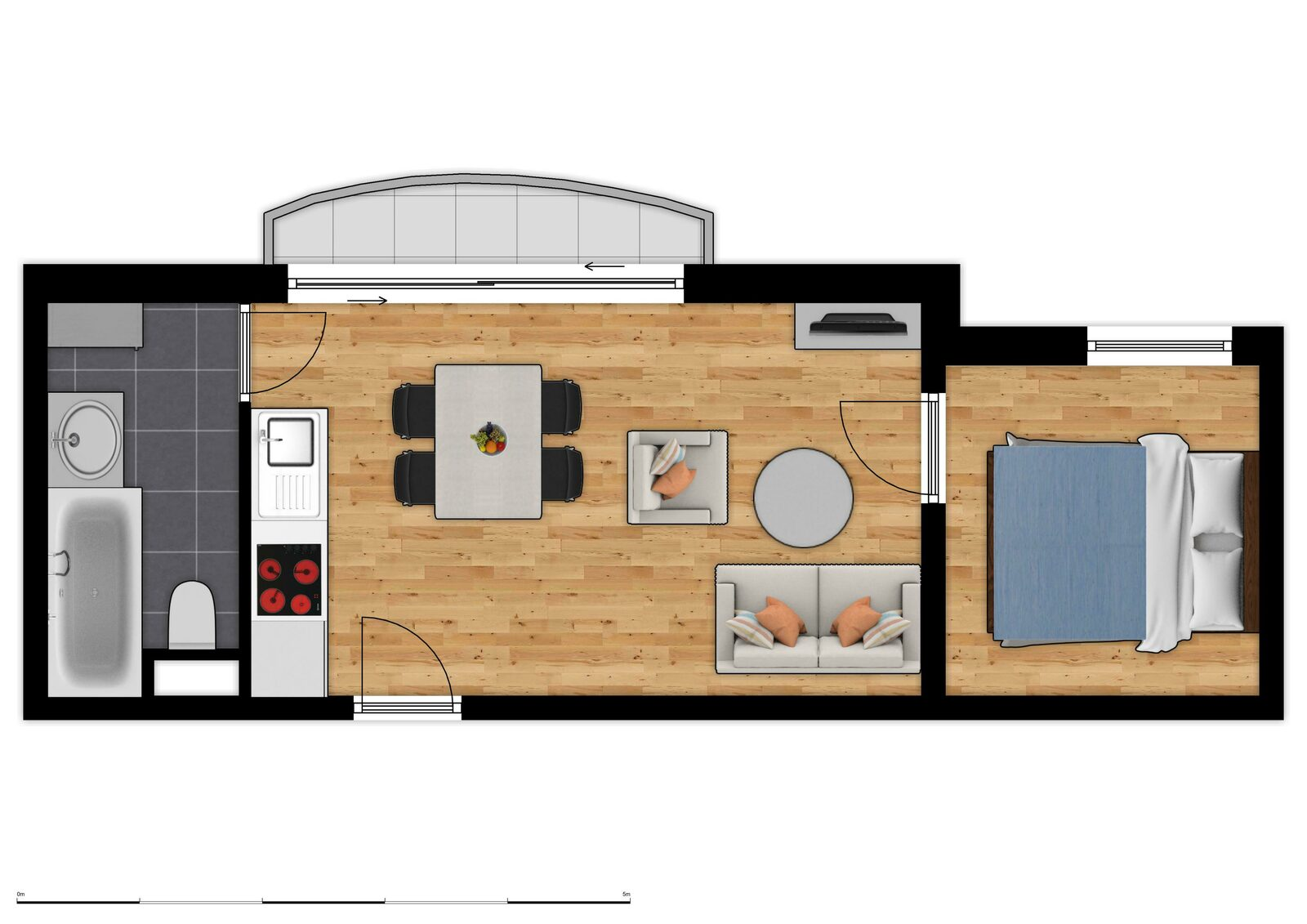 Floor Plan Holiday Suites De Haan - Comfort Suite