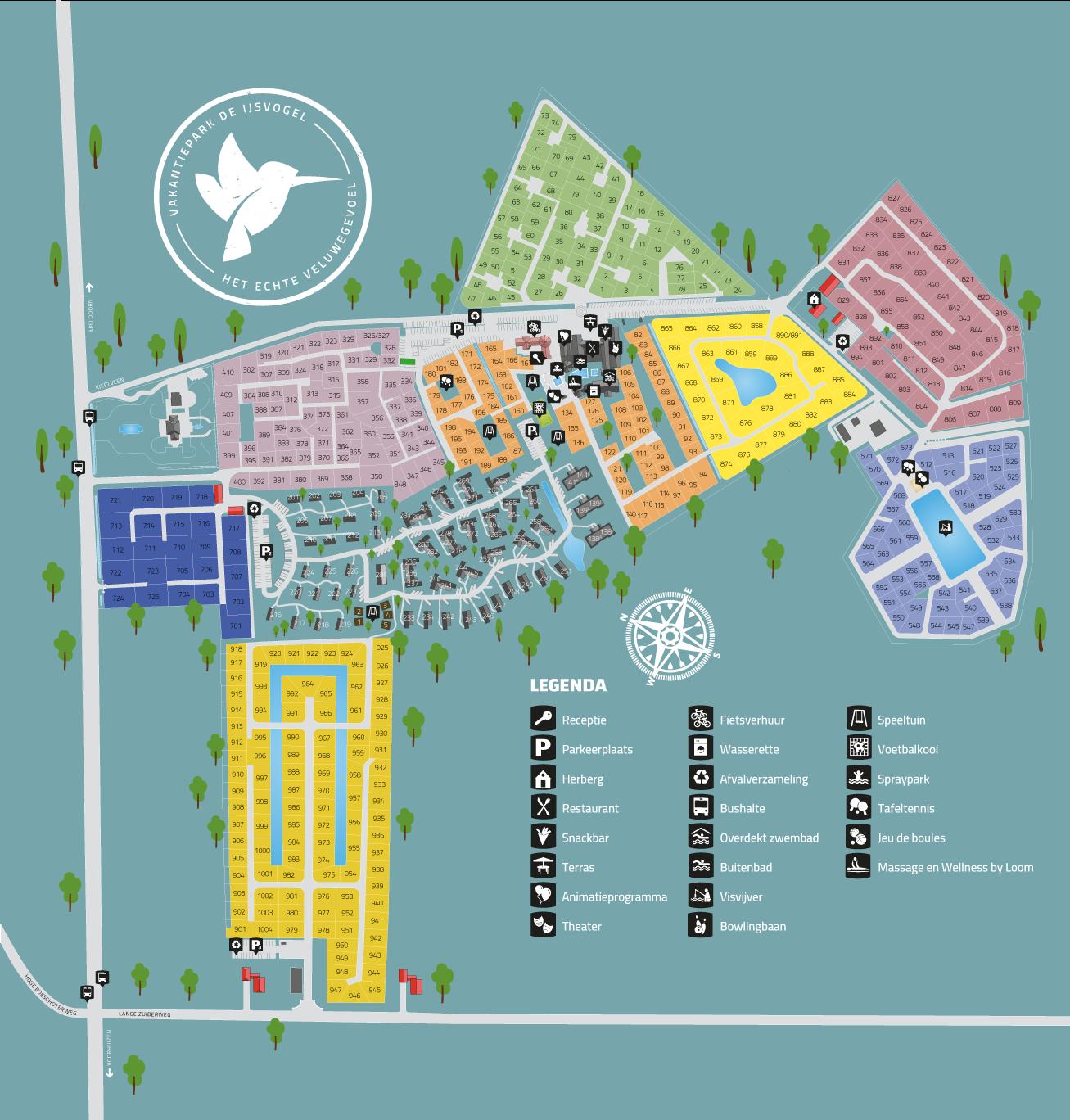 Plattegrond Vakantiepark De IJsvogel
