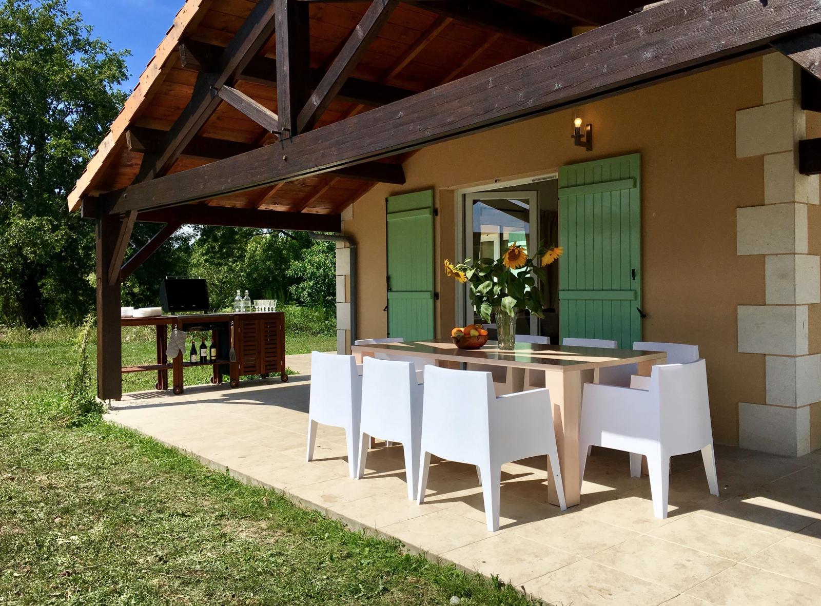Veranda, terrace with BBQ