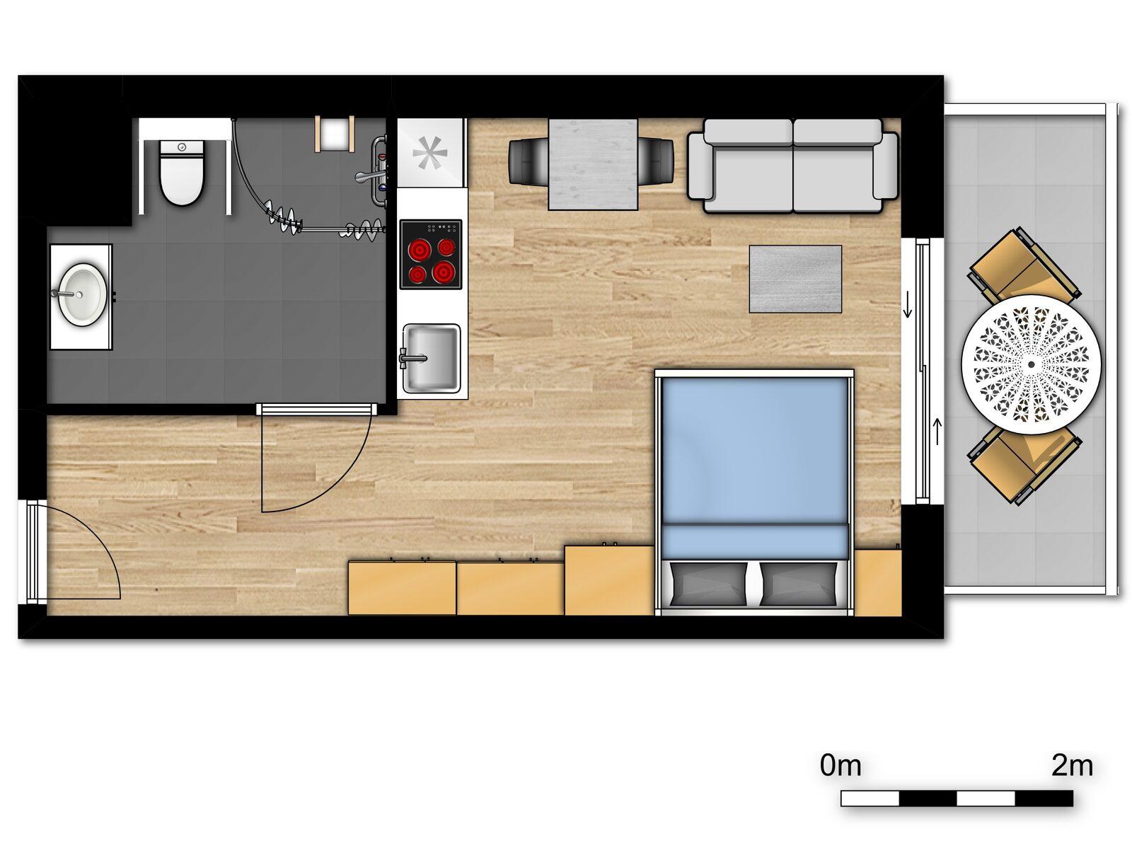 Essential Suite - 2p | Lit double - Accessible PMR