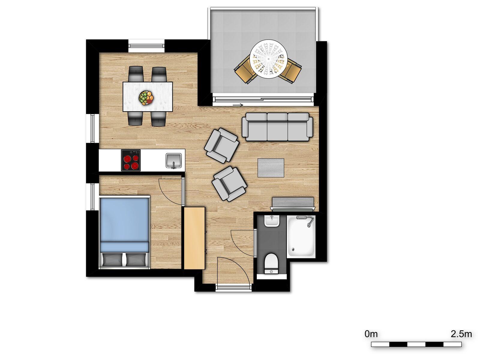 Comfort Suite - 4p | - Chambre à coucher - Canapé-lit
