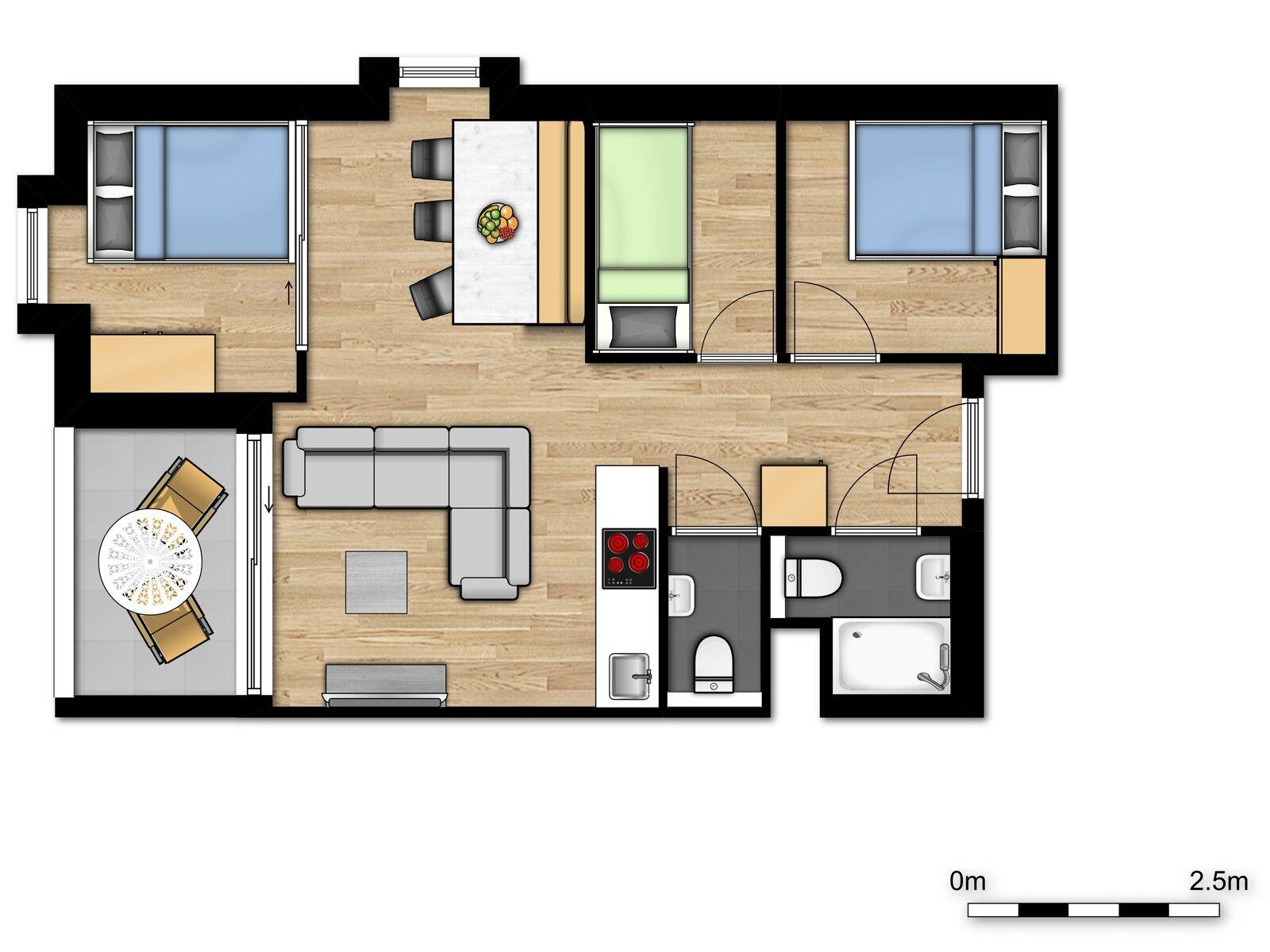 Comfort Suite - 6p | 3 Chambres à coucher