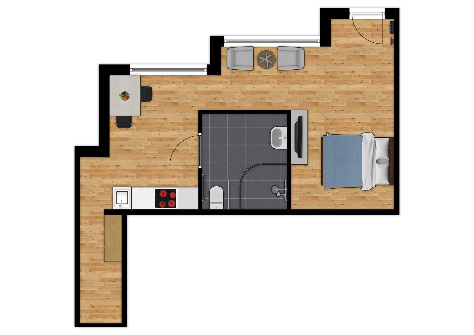 Comfort Suite - 2p | Chambre à coucher - Accessible PMR - Vue de ville