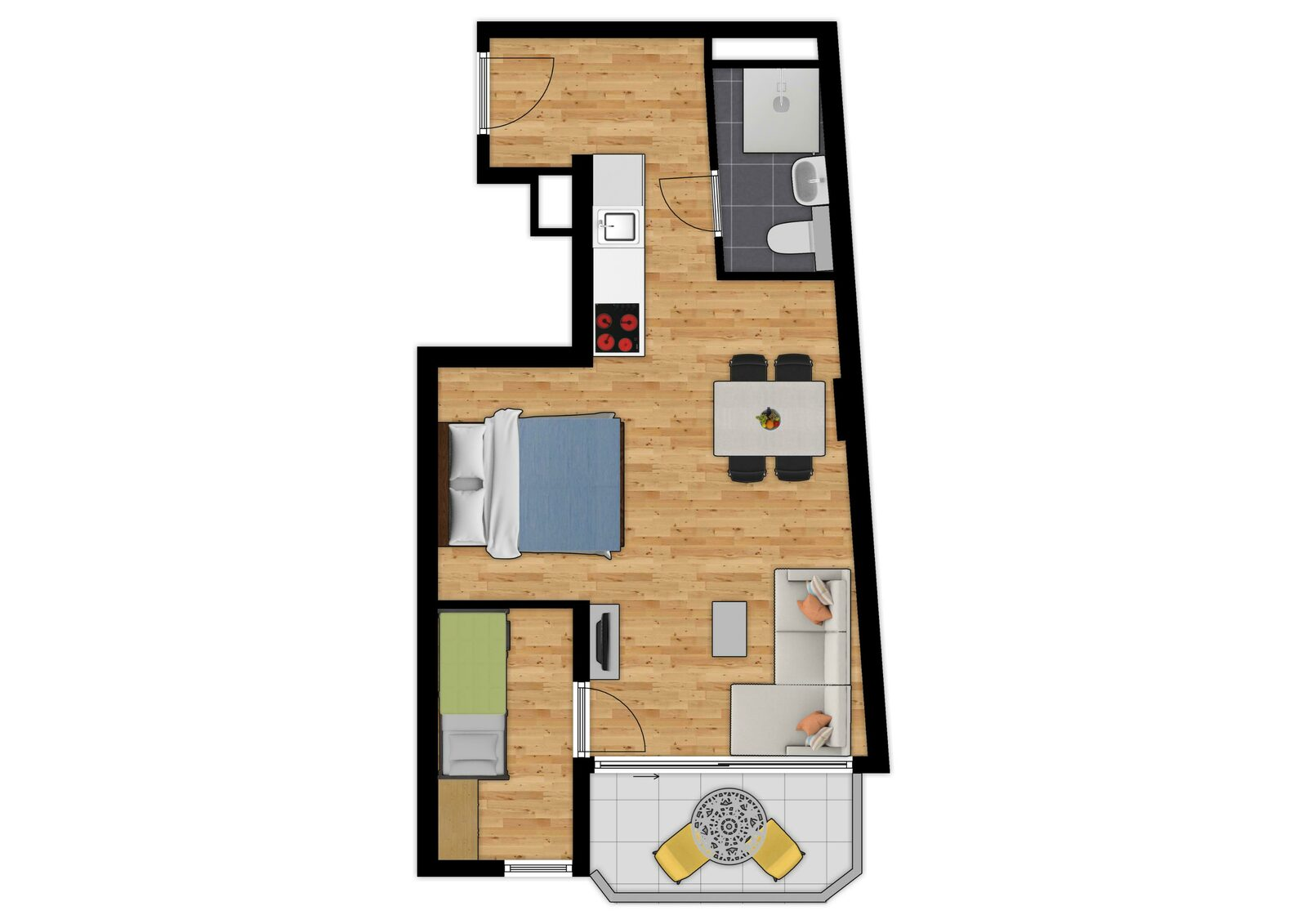 Comfort Suite - 4p | Slaapkamer - Slaaphoek | Balkon - Zeezicht
