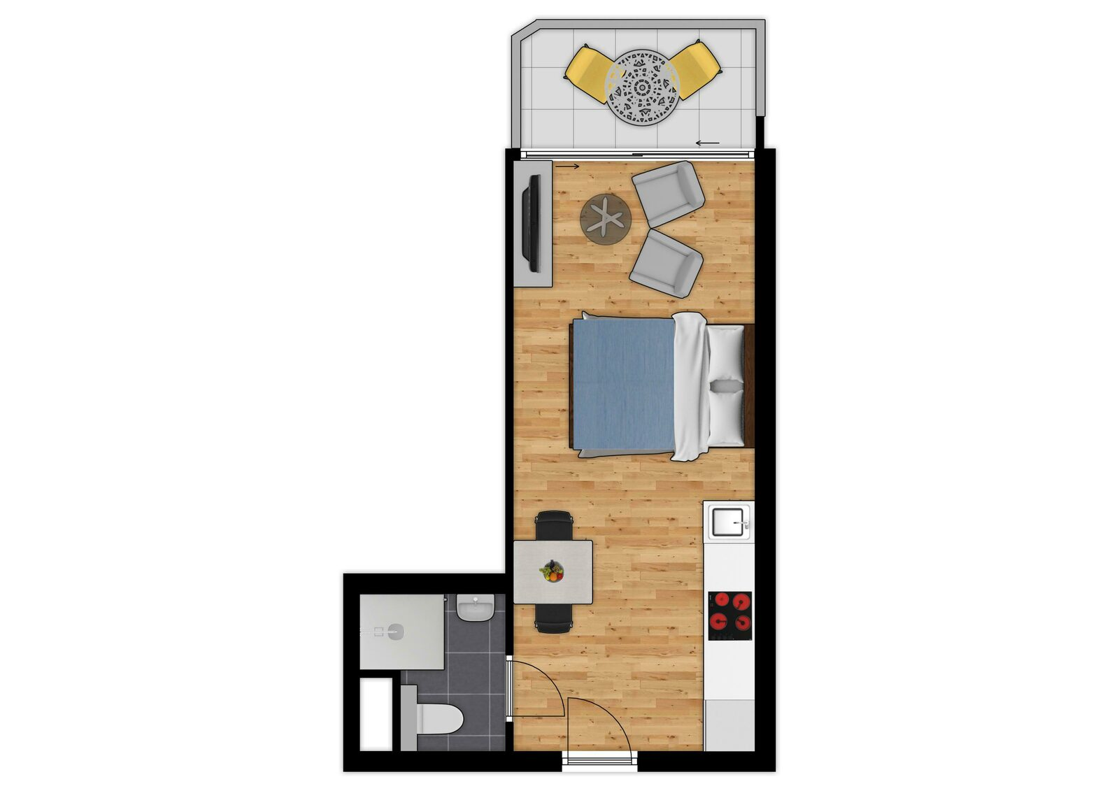 Essential Suite - 2p | Double bed | Balcony - Sea view