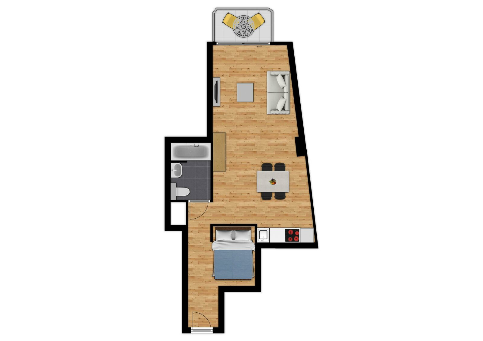 Essential Suite - 4p | Coin couchage - Canapé-lit | Balcon - Vue de ville
