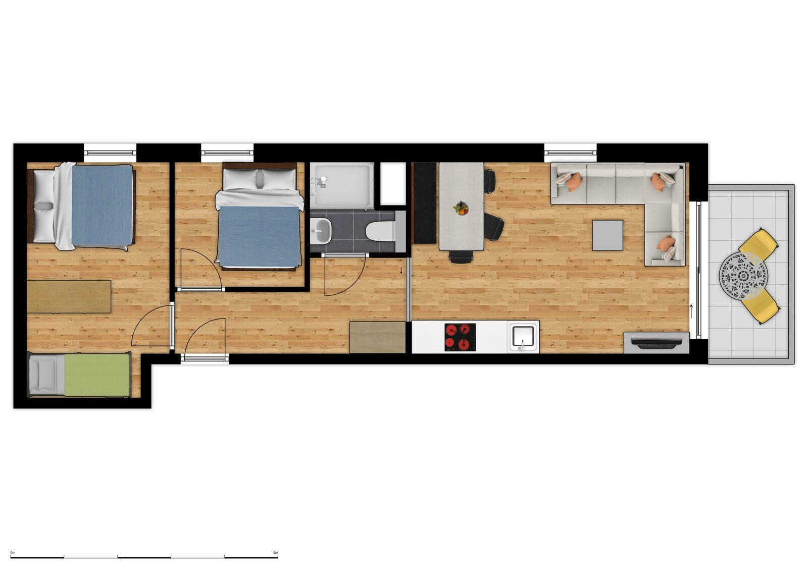 Comfort Suite - 6p | 2 Chambres à coucher