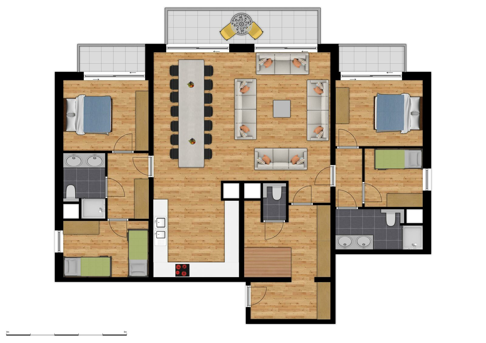 Comfort Suite - 11p | 4 Chambres à chouché