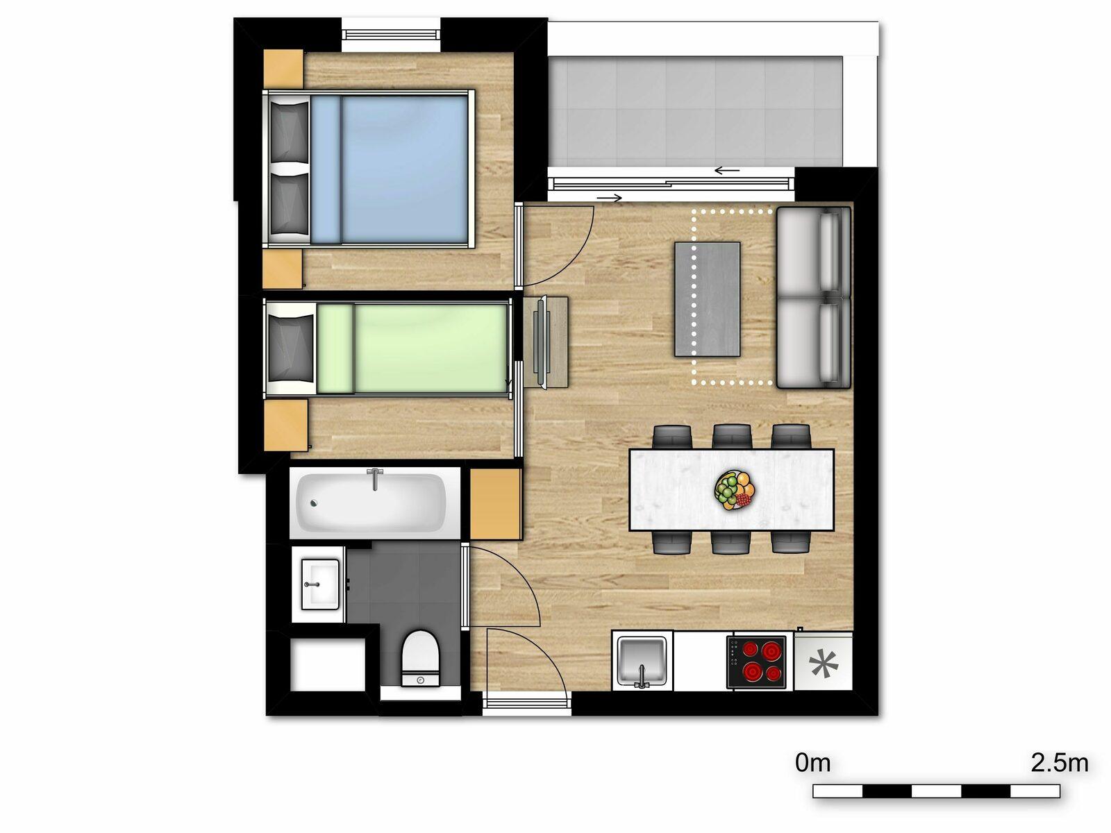 Comfort Suite - 6p |Slaapkamer - Slaaphoek - Zetelbed