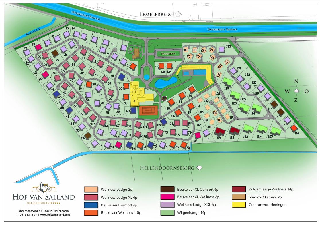Plan of the resort Hof van Salland