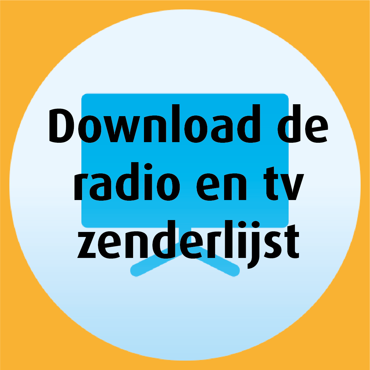 Download de radio en tv zenderlijst