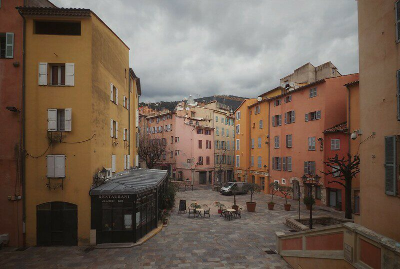 Old town of Grasse on the French Riviera