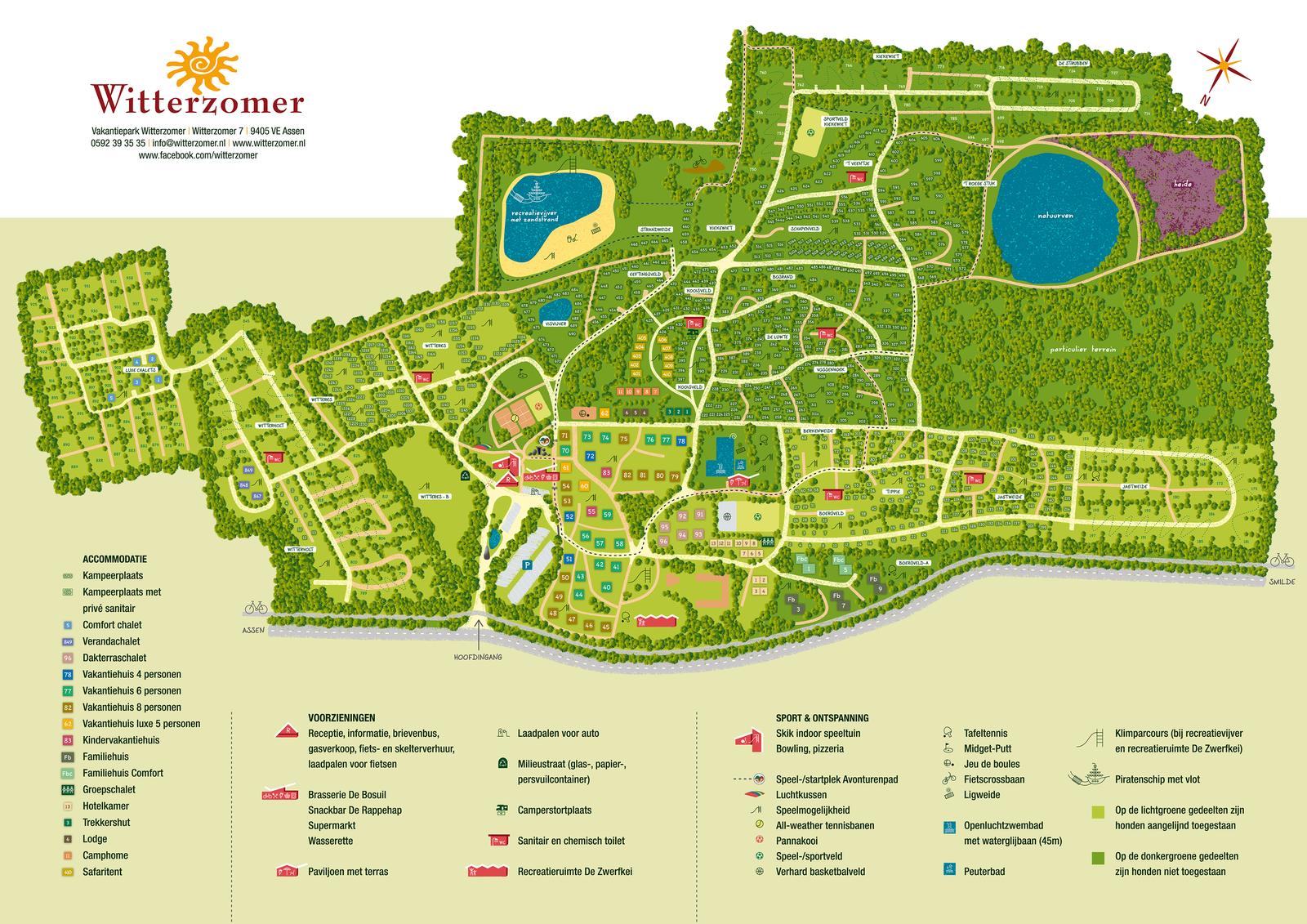 Karte des Ferienresorts Witterzomer