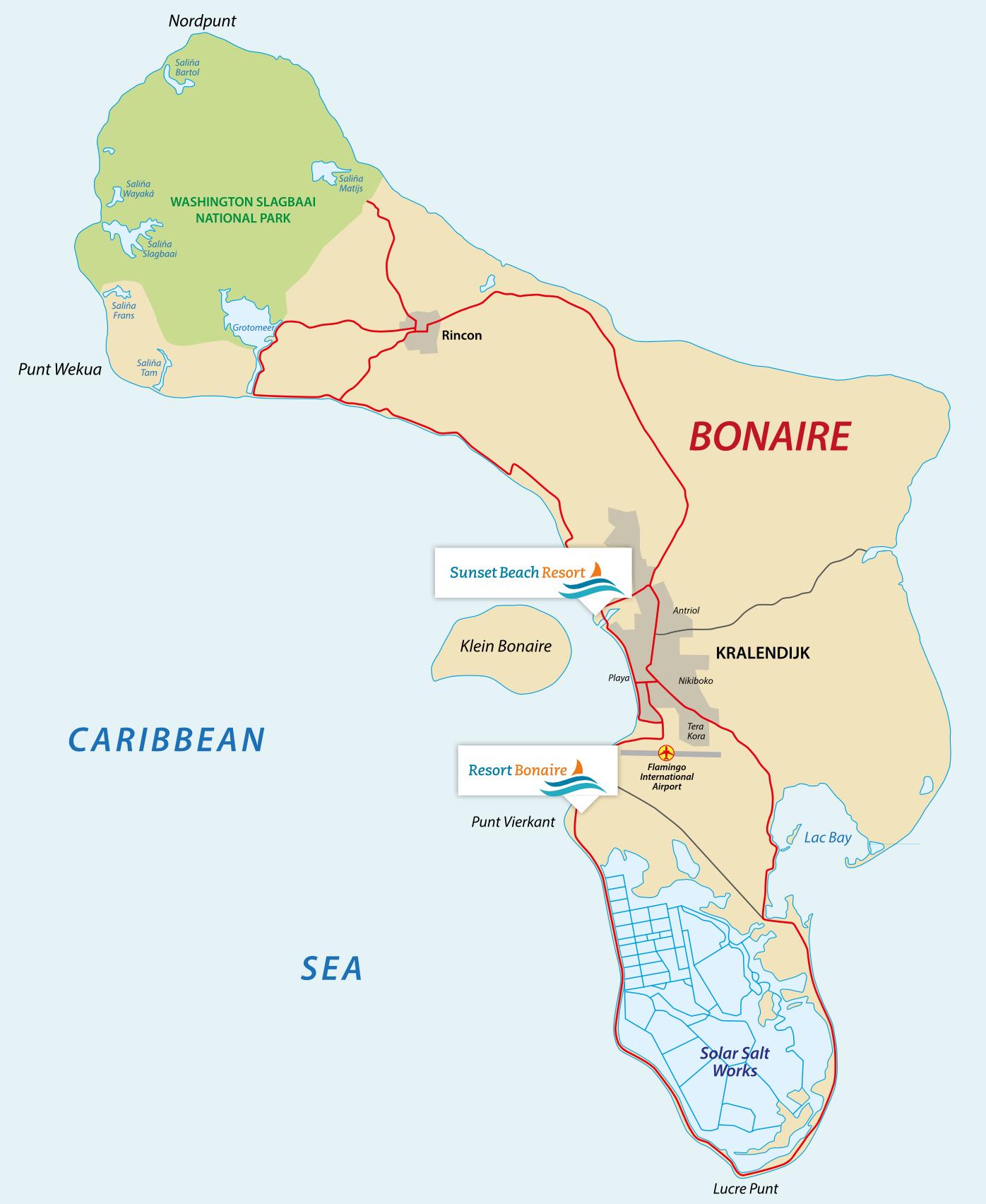 De resorts van Second home Bonaire