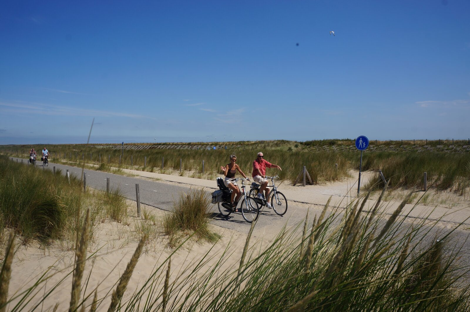 Radfahren auf den Dünen