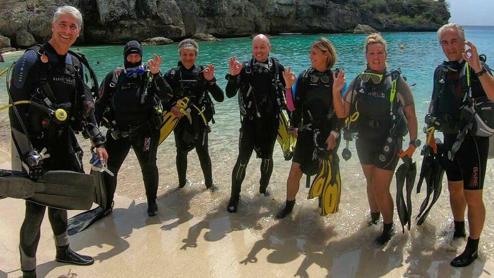 Reef cleanup, Bahia Diving, Playa Lagun, Curacao