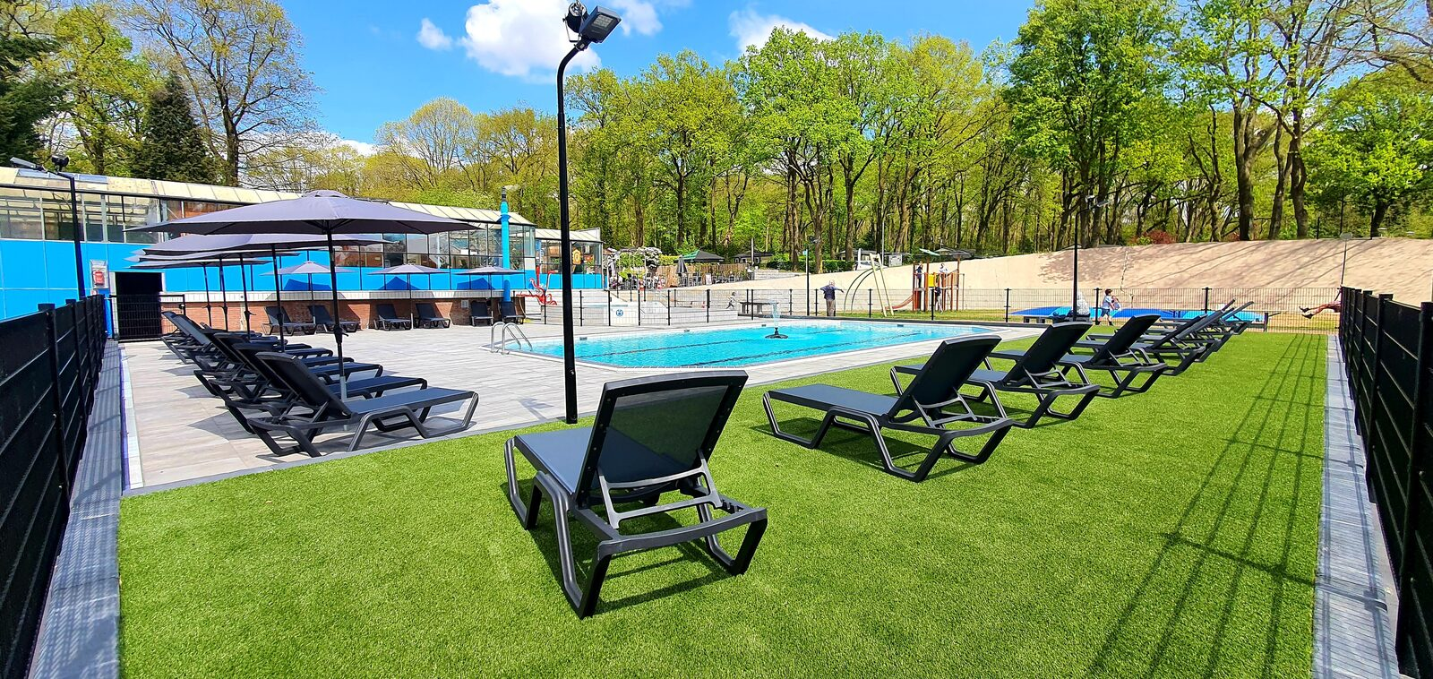 Holiday resort with outdoor swimming pool