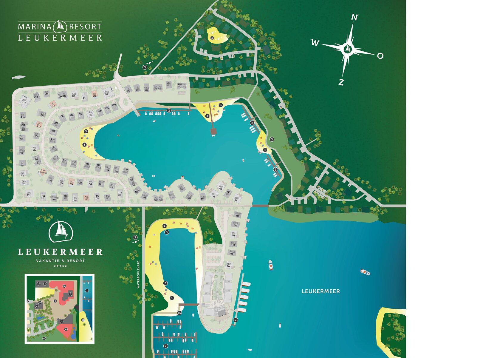 Karte des Resorts