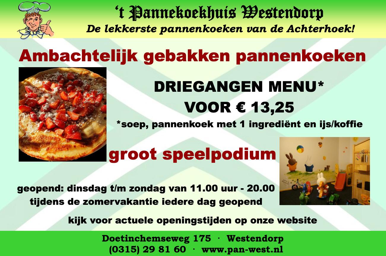 Advertentie Pannenkoekhuis Westendorp