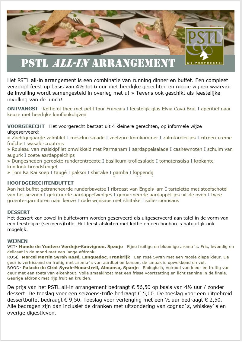 PSTL all-in arrangement