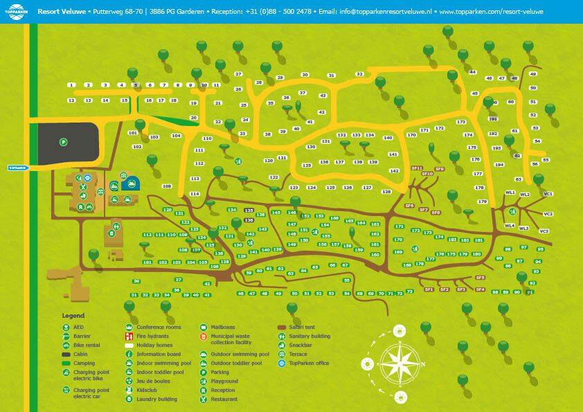 Karte Resort Veluwe