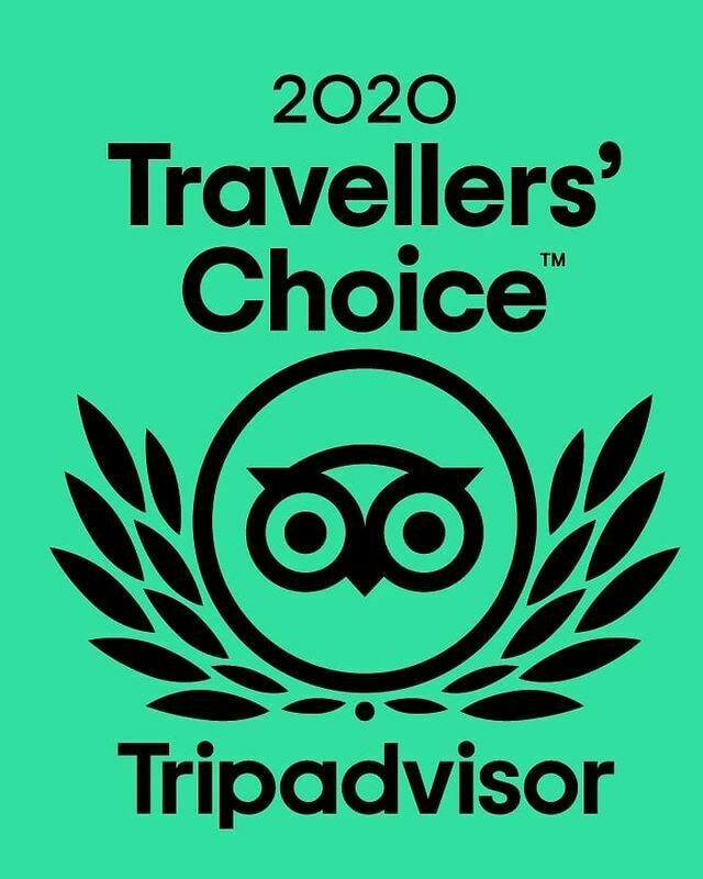 We have been awarded with the Tripadvisor travellers choice award 2020