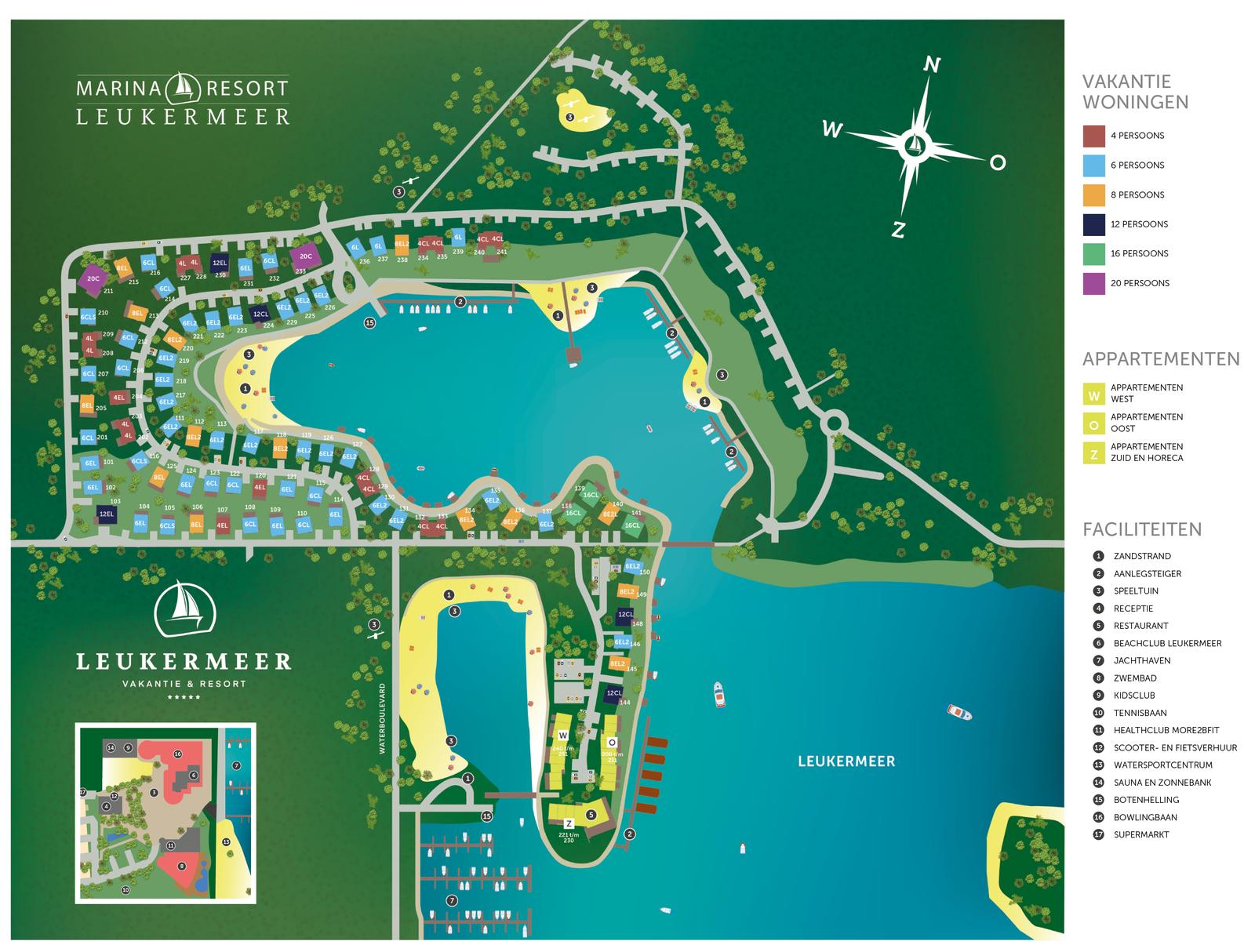 Map Marina Resort Leukermeer