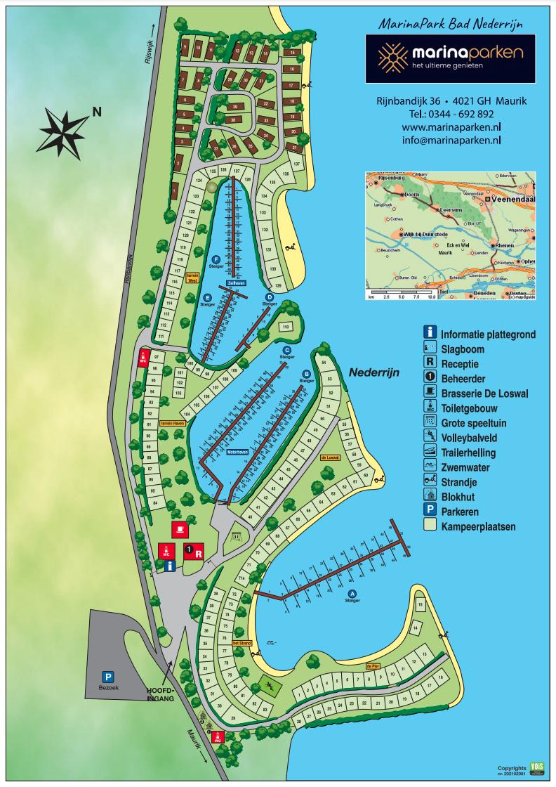 Plattegrond MarinaPark Bad Nederrijn