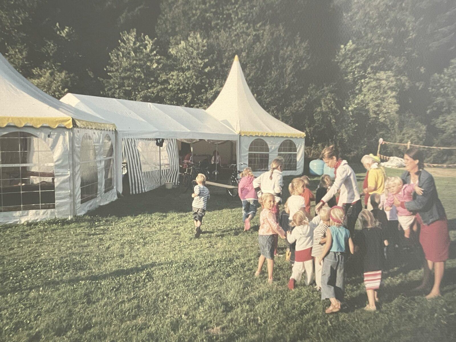 Witte tent vroeger Walsdorf