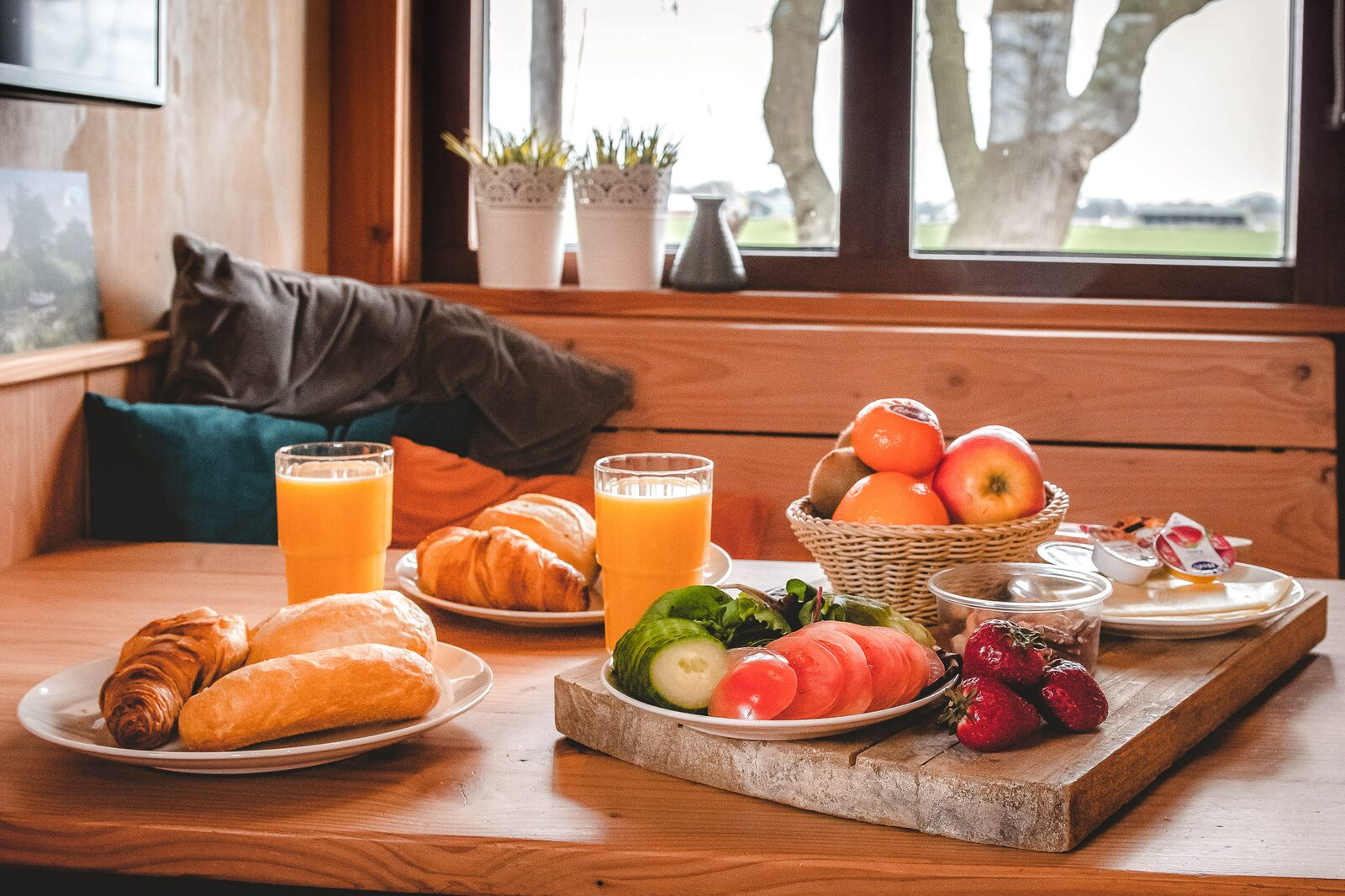 Breakfast service at your accommodation