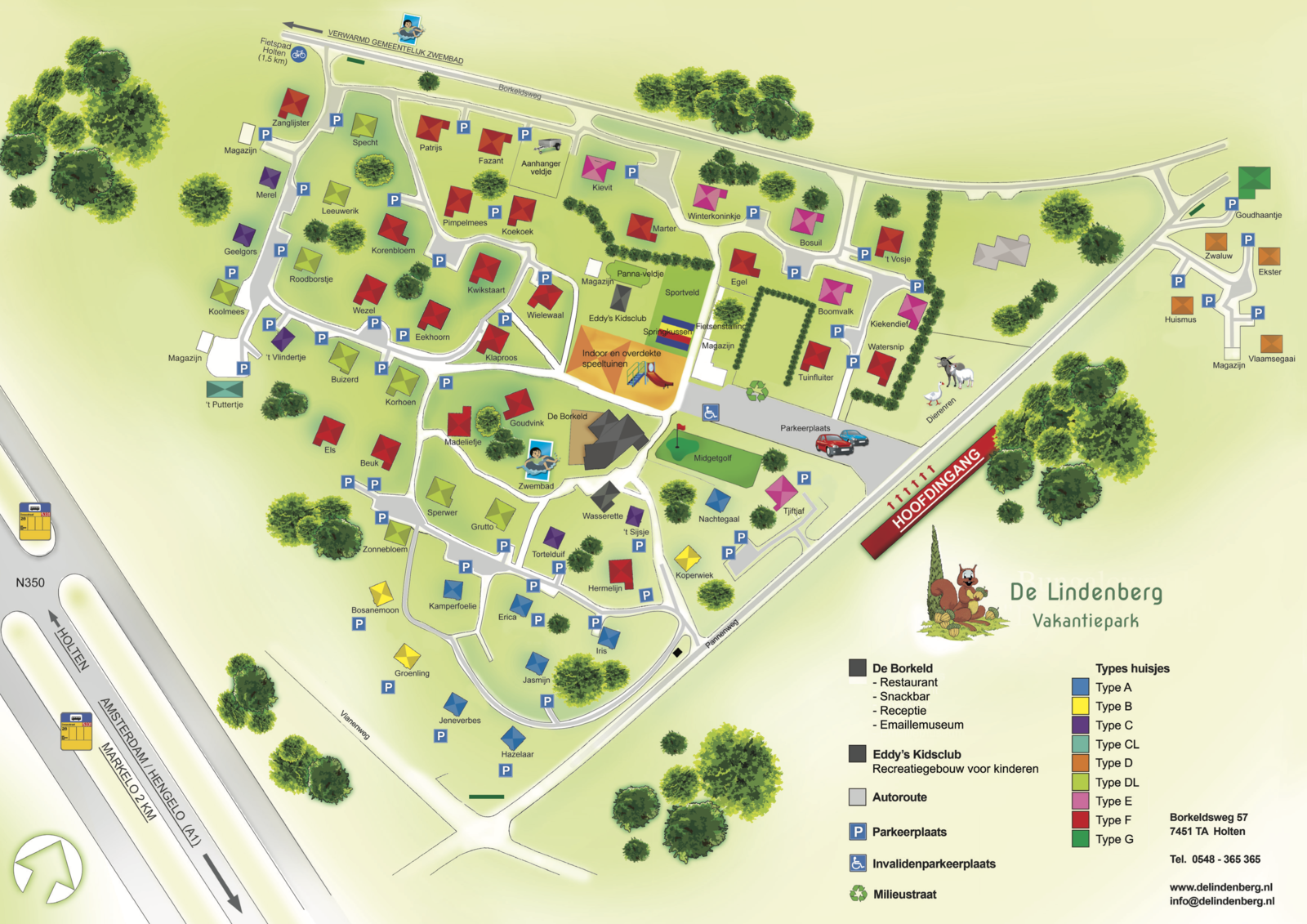 Plan des Ferienparks Lindenberg