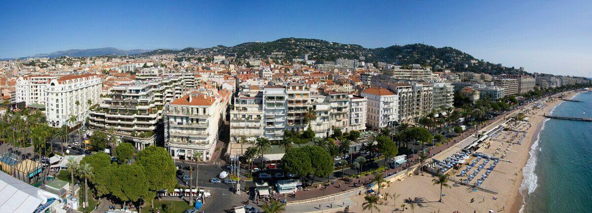 Ville de Cannes sur la Côte d'Azur