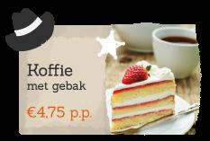 Boek als extratje Koffie met Gebak bij een activiteit op Recreatiepark De Boshoek