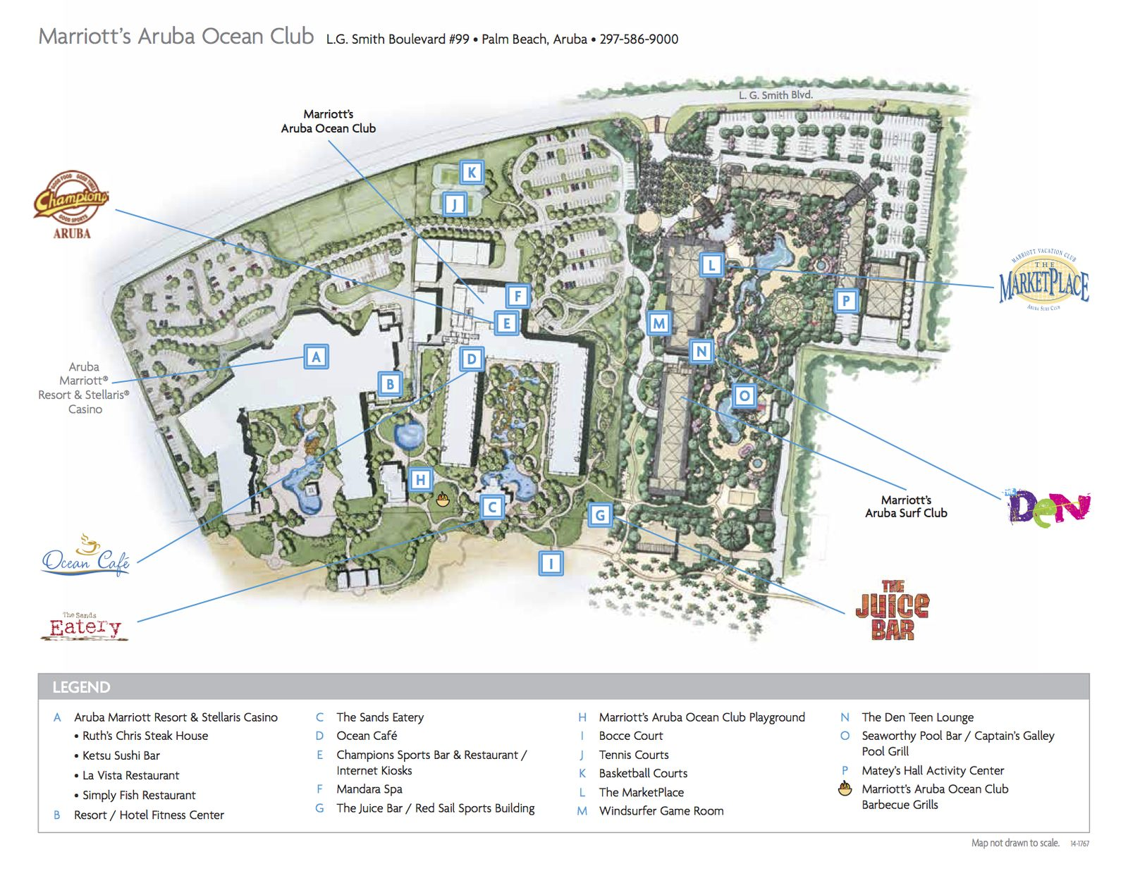 Aruba Ocean Club map