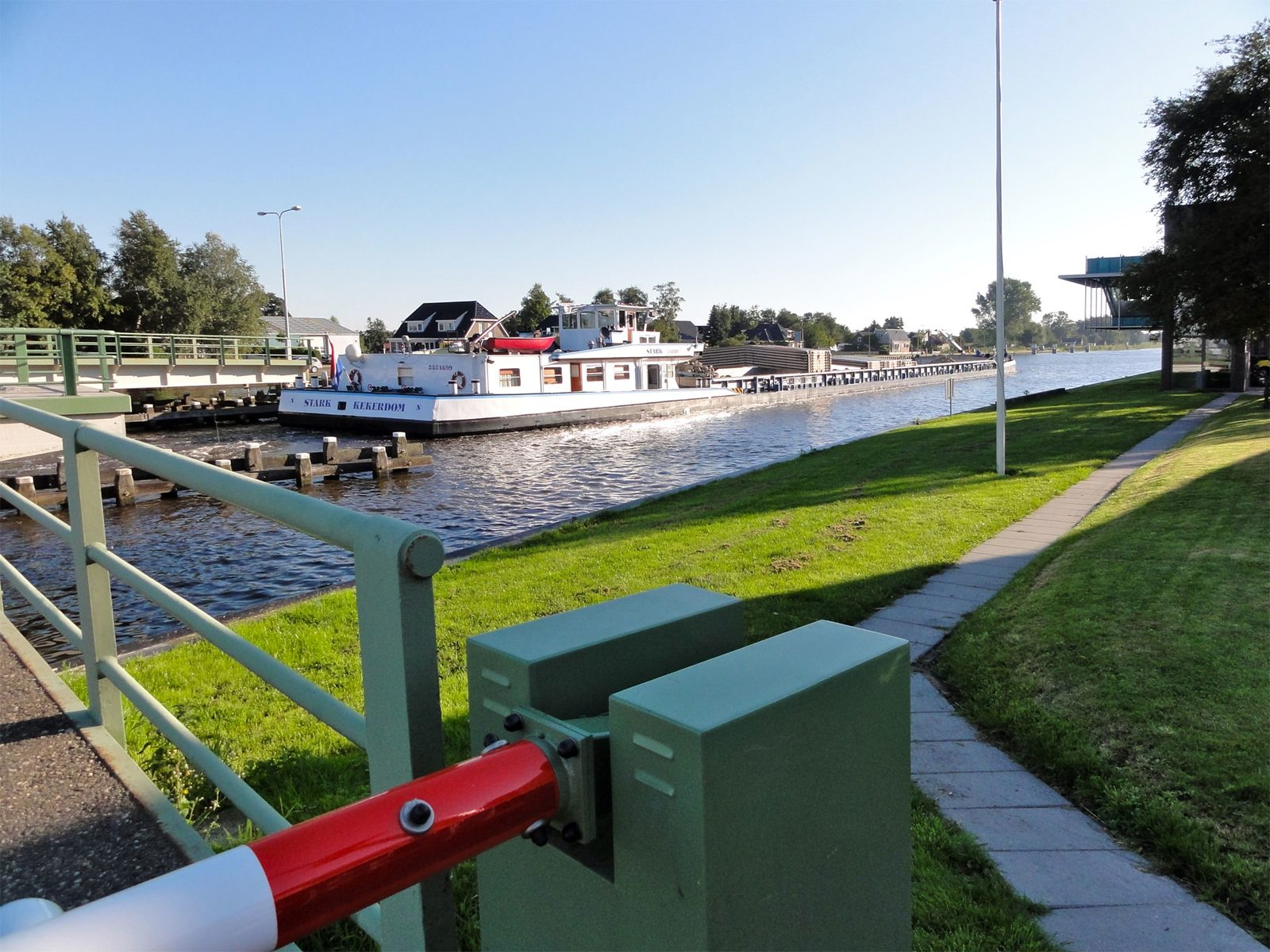 Ferry for crossing the Prinses Margriet Channel – Terherne.