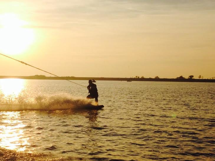 Wakeboarding and water skiing