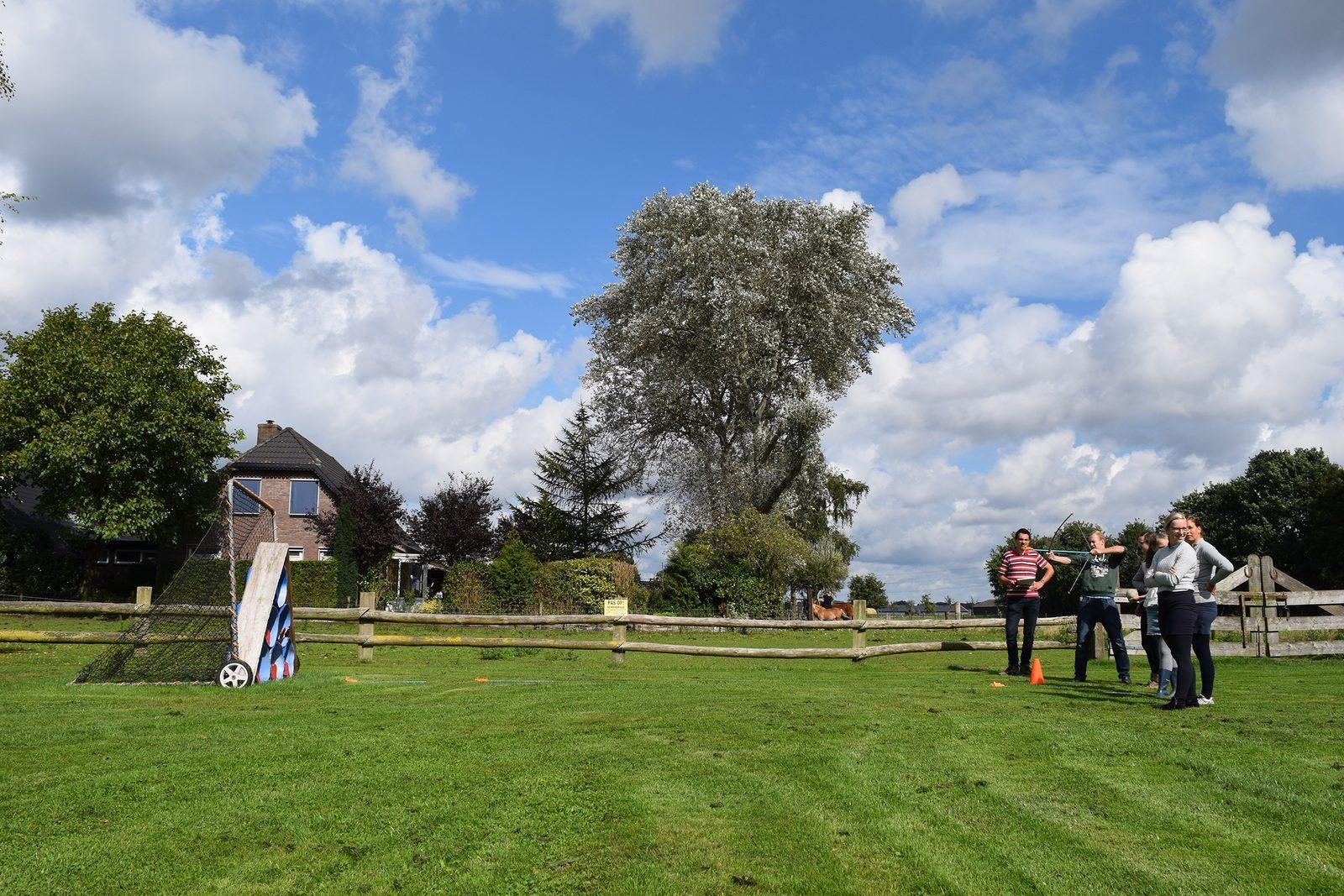 Boeren Buitenspelen gezellig met gezin en familie in Voorthuizen
