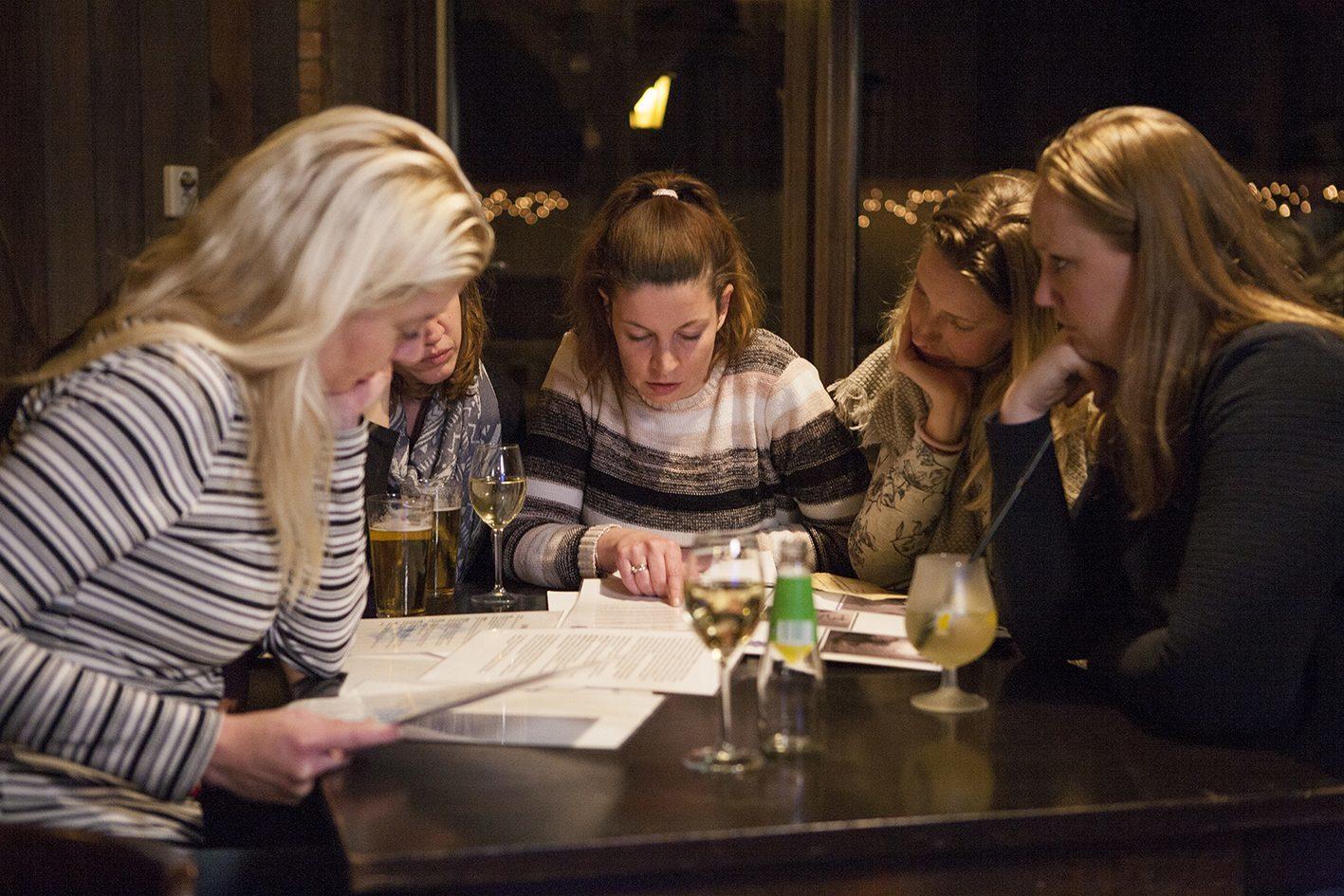 Dinerspel met collega's in Voorthuizen